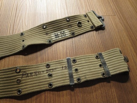 U.S.Pistol Belt Cotton M-1936 WWⅡ used
