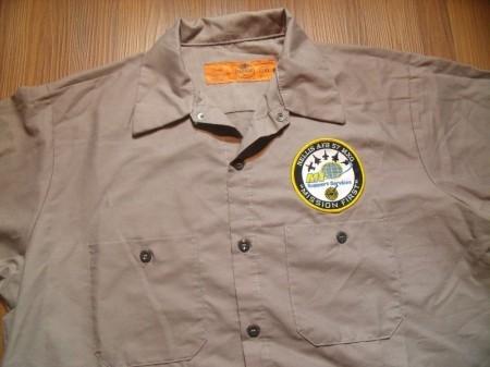 "U.S.AIR FORCE Shirt RED KAP ""NELLIS AFB"" sizeL"