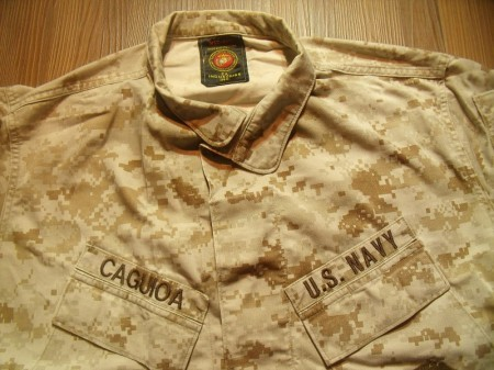 U.S.NAVY Blouse MARPAT MCCUU sizeM-Short used