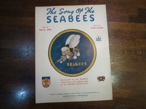 """U.S.NAVY Score""""The song of the SEABEES""""1940年代 used"""