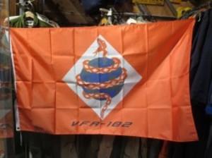 "U.S.NAVY Flag ""DIAMONDBACKS VFA-102"" new"