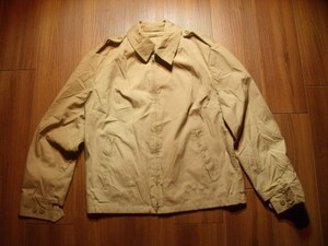 U.S.NAVY Jacket Sample Women Tan 1983年 size12R