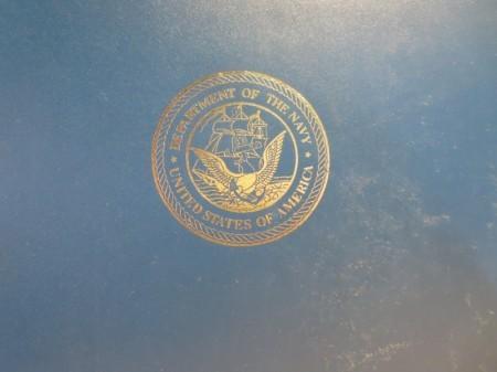 U.S.NAVY Hard Cover used