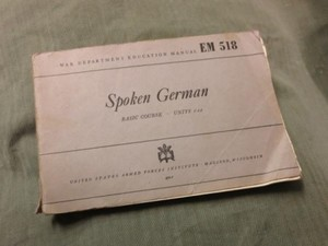"U.S. EdugationManual""SpokenGerman""1944年 used"