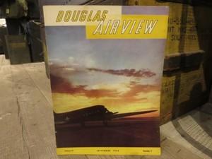 """U.S.Magazine """"DOUGLAS AIRVIEW"""" 1942年 used"""