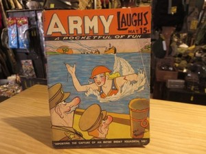"U.S.Comic Magazine ""ARMY LAUGHS"" 1942年 used"