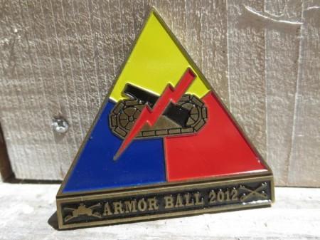 "U.S.ARMY Challenge Coin ""ARMOR BALL 2012"""