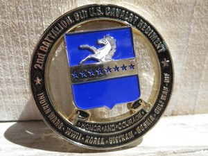 """U.S.ARMY Challenge Coin""""2nd Battalion 8thCavalry"""""""