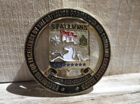 "U.S.ARMY Challenge Coin""2nd Battalion 8thCavalry"""