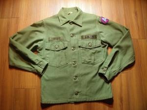 U.S.ARMY Shirt Cotton Utility 1965-66年 size14 1/2