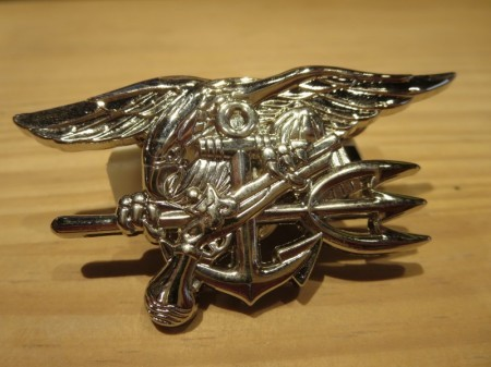 U.S.NAVY SEALS Insignia Silver Large