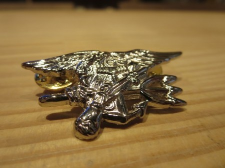 U.S.NAVY SEALS Insignia Silver Small