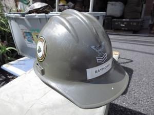 """U.S.NAVY Helmet """"SEABEES"""" used"""