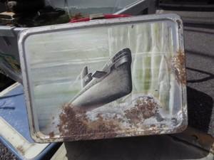 U.S.NAVY Tin Lunch Box 1960年 used