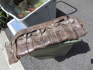 Sweden Leather Ammunition Belt Pouch used
