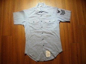 U.S.NAVY Shirt Chambray Utility sizeS used