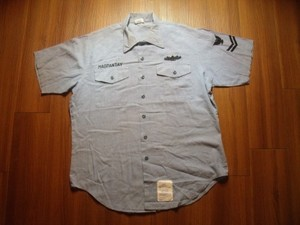 U.S.NAVY Shirt Chambray Utility sizeL used