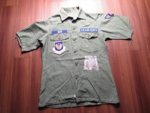 U.S.AIR FORCE Cotton Shirt 1968年 size15 1/2? used