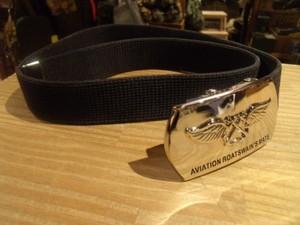 "U.S.NAVY Buckel ""AVIATION BOAT~"" with Belt 82cm"