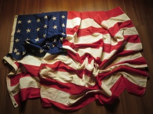 "U.S.Flag ""The 48Stars & Stripes"" 170cm×114cm used"