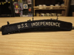 """U.S.NAVY Patch""""USS INDEPENDENCE CV-62"""" used"""