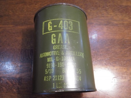 U.S.Grease Automotive & Artillery 1959年?
