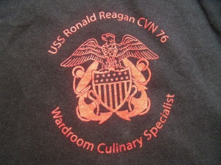 "U.S.NAVY T-Shirt ""USS RONALD REAGAN CVN-76"" sizeL"