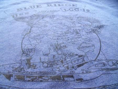 "U.S.NAVY T-Shirt ""USS BLUE RIDGE LCC-19""sizeM used"