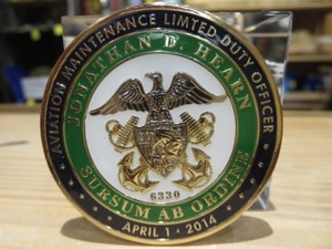 """U.S.NAVY Challenge Coin """"Limited Duty Officer"""""""