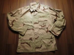 "U.S.NAVY Coat 3Color ""SEABEES"" 1999年 sizeM-R used"