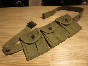 U.S.MARINE CORPS Pouch&Belt for M1Carbine 1943-44年