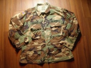 U.S.ARMY Coat Combat WoodLand 1995年 sizeL-Short