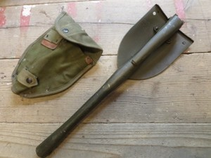 U.S.Entrenching Tool with Cover 1967年 used