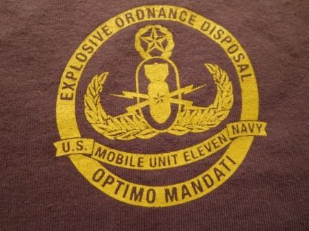 "U.S.NAVY T-Shirt ""EOD MOBILE UNIT11"" sizeXL used"