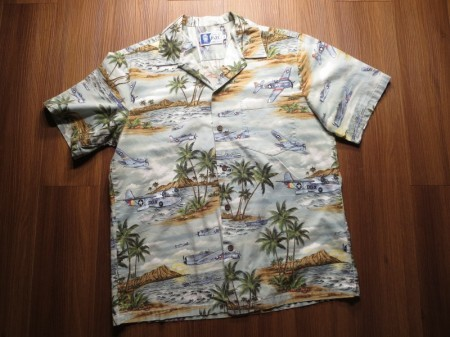 U.S.ARMY AIR FORCE Aloha Shirt sizeL used