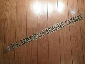 "U.S. ARMY STICKER""3rd ARMORED CAVALRY"""