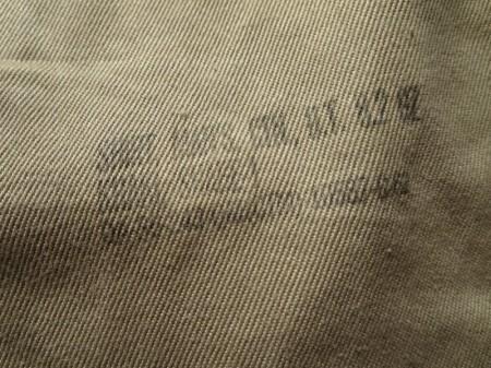 U.S.ARMY Shirt Cotton Khaki 1962年 size15 1/2 used