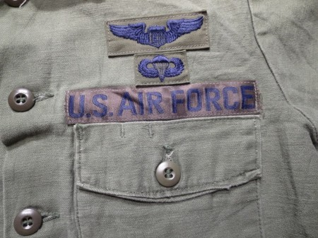 U.S.AIR FORCE Shirt Coton 1976年 size15 1/2 used