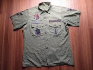U.S.AIR FORCE Utility Shirt 1980年代 sizeL?XL? used