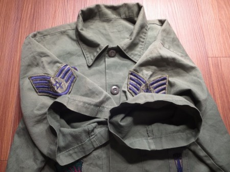 U.S.AIR FORCE Utility Shirt 1980年代 sizeL?XL? used