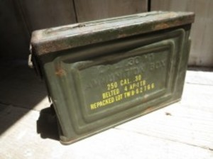 U.S.ARMY Box Steel Ammunition 1940年代 used