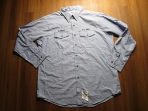 U.S.NAVY Shirt Utility Working 1999年 sizeXXL used