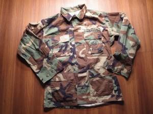 "U.S.NAVY BDU Jacket ""SEABEES"" 1996年 sizeM used"