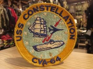 "U.S.NAVY Patch""USS CONSTELLATION CVA-64"" new?"