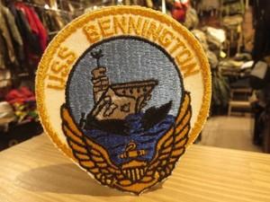 "U.S.NAVY Patch""USS BENNINGtON CV-20"" new"