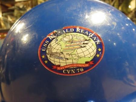 "U.S.NAVY Helmet Working ""USS RONALD REAGAN"" used"