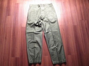 U.S.Utility Trousers Cotton 1965-66年 size36 used