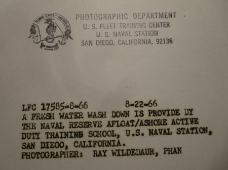 "U.S.NAVY OFFICIAL PHOTO  ""FLEET TRAINING ~"" 1966年"