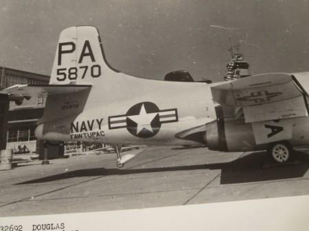 """U.S.DOUGLAS OFFICIAL PHOTO """"NAVY F3D"""" 1955年"""