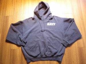 U.S.NAVY Hooded Parka Athletic sizeL used